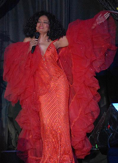 Original red Dress: Diana Ross